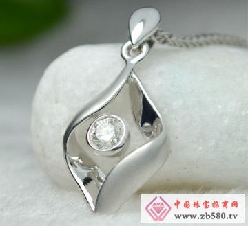 川川珠宝--10分钻石18k白金吊坠