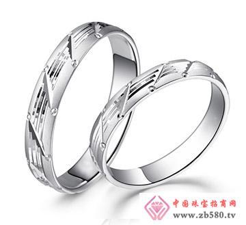 金兰首饰--铂金戒指缘定三生