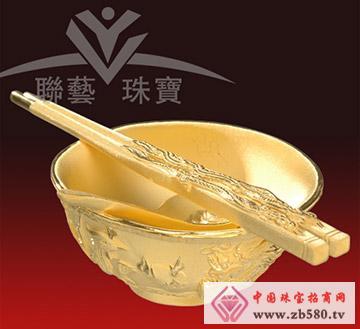 联艺珠宝--龙凤碗筷匙