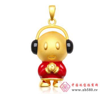灿兴珠宝--3D硬千足金感恩音乐宝宝