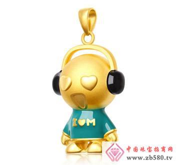 灿兴珠宝--3D硬千足金心动音乐宝宝