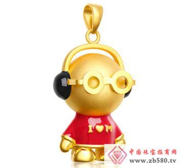 灿兴珠宝--3D硬千足金优雅音乐宝宝