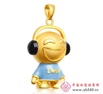 灿兴珠宝--3D硬千足金开心音乐宝宝