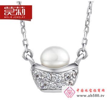 莫莉molie-925纯银-中国风元宝珍珠