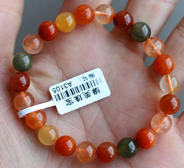巴西天然三色福禄寿手链-天然水晶