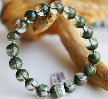 天然绿幽灵聚宝盆手链-10mm-旺财助