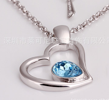 奥地利水晶饰品-经典爱心项链-欧美