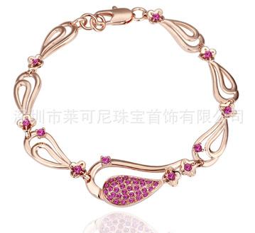 18K玫瑰金-进口奥钻水晶-手链-欧美