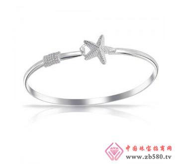 金丽珠宝--925银手镯-海星