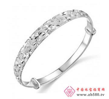 金丽珠宝--925银手镯-满天星