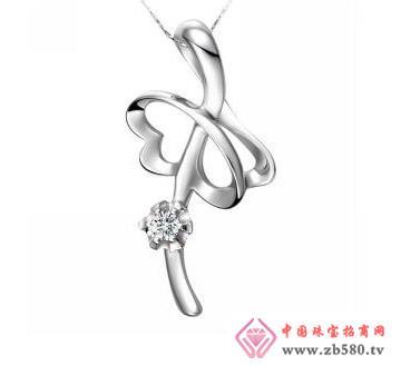 金丽珠宝--18K金钻石吊坠
