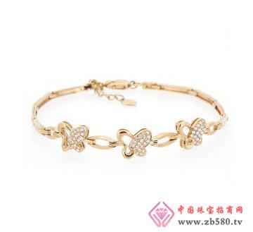 金丽珠宝--18k玫瑰金钻石手链