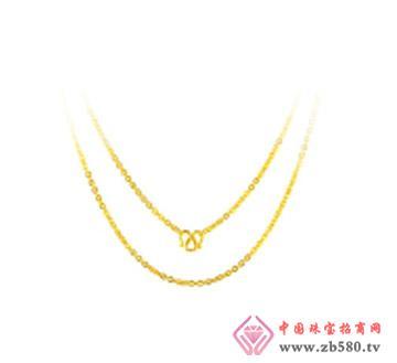 和富隆珠宝--千足金项链黄金项链锁