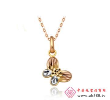 和富隆珠宝--k-gold蝴蝶彩金吊坠