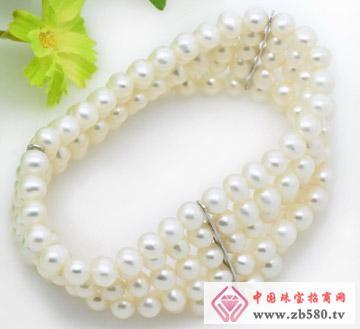 白色6-7mm椭圆形珍珠手链