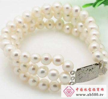 椭圆形白色7-8mm珍珠手链