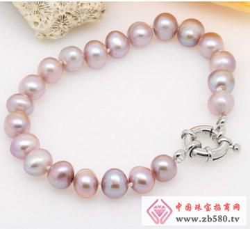 椭圆形淡水珍珠款式手链