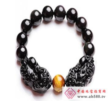 佰瑞福珠宝--黑曜石手串
