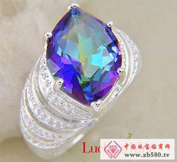 七彩水晶石戒指