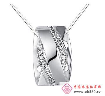 爱交织-白18K金钻石吊坠