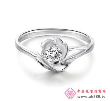 暗香-白18K金钻石女戒