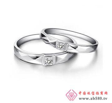 白18K金钻石对戒