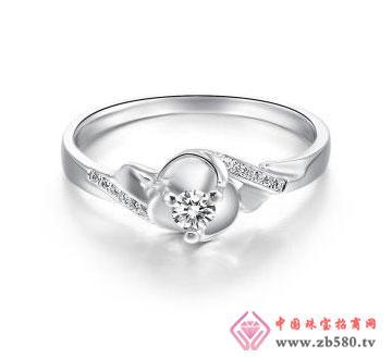 花韵-白18K金钻石女戒