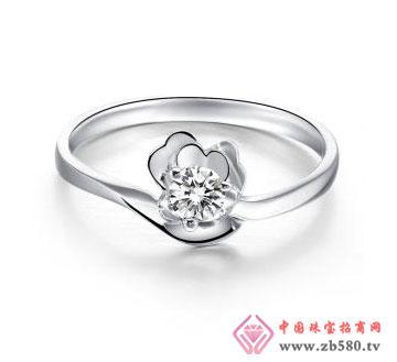 天使礼物-白18K金钻石女戒