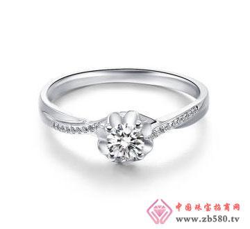 甜蜜相恋-白18K金钻石女戒
