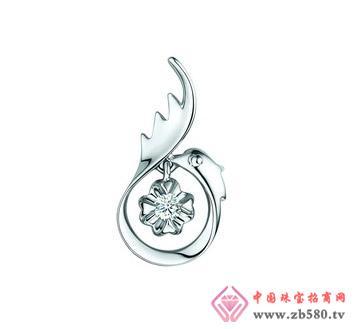 润鑫珠宝--750金钻石吊坠