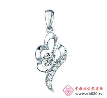 润鑫珠宝--PT950钻石吊坠