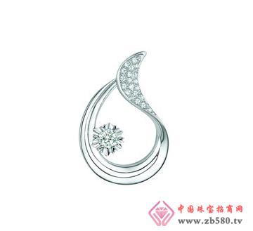 润鑫珠宝--白750金钻石吊坠