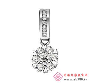 凯诗翡亚--18K白金镶钻石吊坠