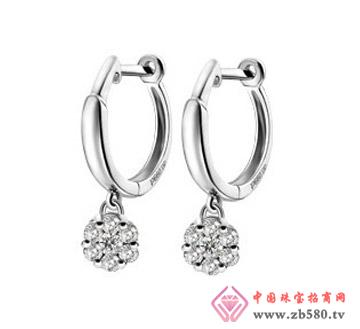 凯诗翡亚--18K白金镶钻石耳环