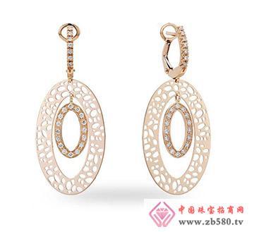 凯诗翡亚--18K玫瑰金镶钻石、贝母