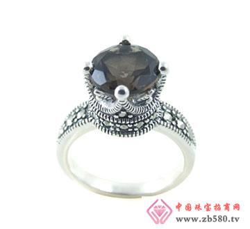 �y海�品-黑曜石戒指而那人中间