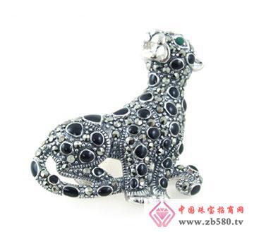 银海饰品-胸针豹子
