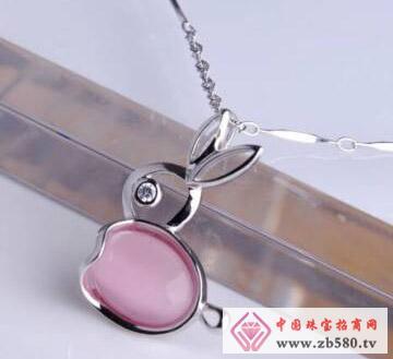 凌志银饰--镶石吊坠1