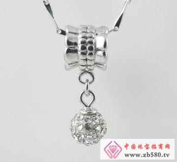 凌志银饰--镶石吊坠4