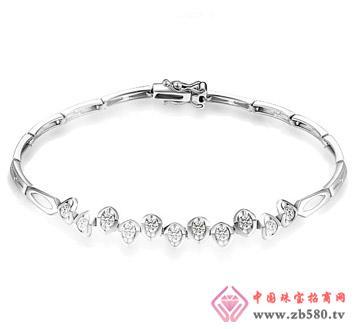 花香韵—48分18K白金砖石手链、手