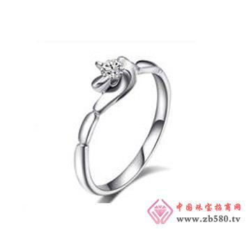 情若花—14分18k白金钻石女结婚戒