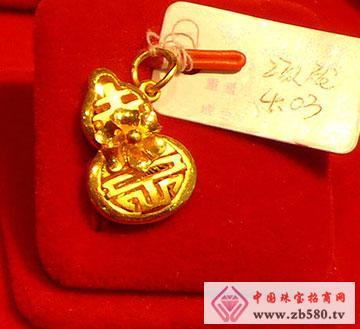 黄金项坠[黄金]葫芦