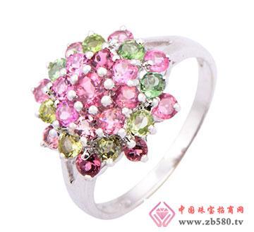 繁华似锦-925银镶碧玺戒指