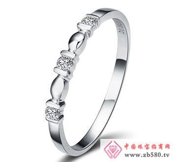 爱缠绵---白18K金-9分钻石女戒