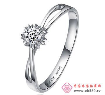爱绽放---白18K金-10分钻石女戒