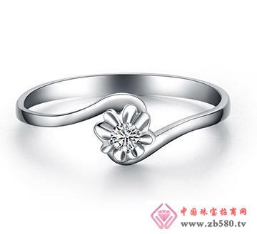 花慕---白18K金-5分钻石女戒