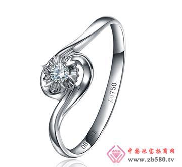 花柔时光---白18K金-5分钻石女戒