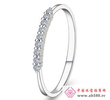 小公主-白18K金-9分钻石女戒