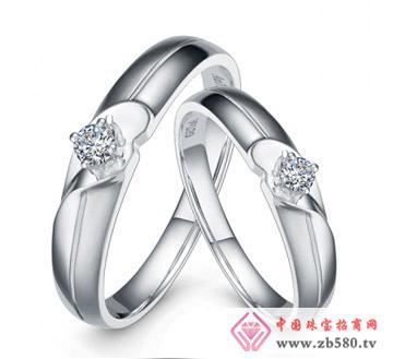 心花---白18K金-12分钻石对戒