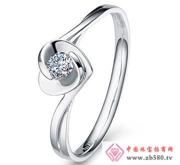 心蕊---白18K金-10分钻石女戒